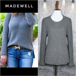 Madewell Holcomb textured knit sweater in Gray